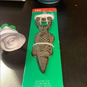 Wemco fish tale bottle opener NWT